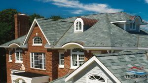 Architectural Roof Shingles on a Brick Home
