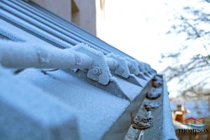 Frost on Roof and Gutters