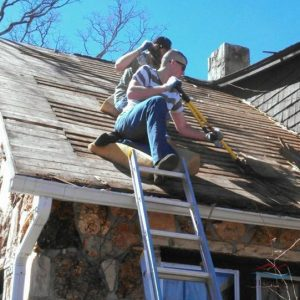 Roofers Removing an Old Roof for Roof Repair